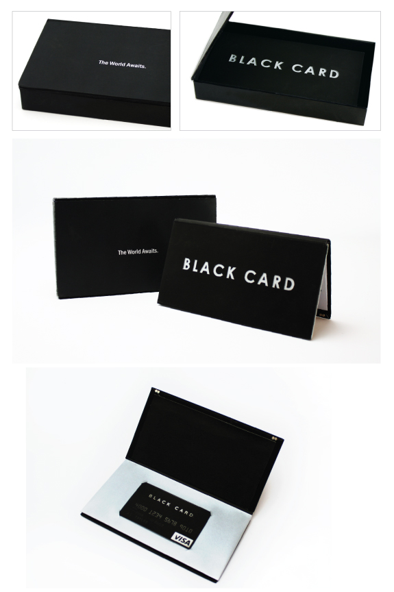 Black Card Design By Juliana Ereno
