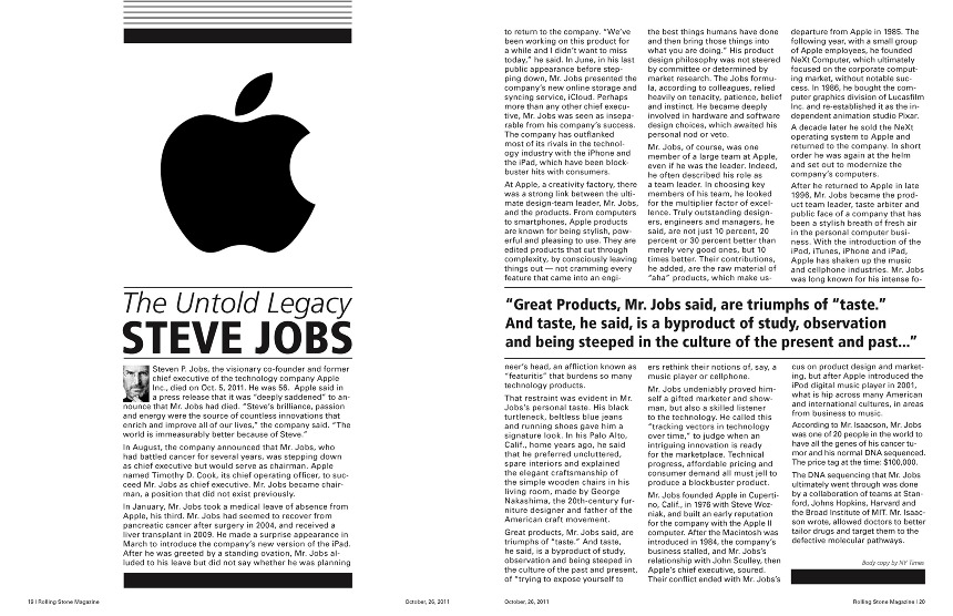 steve jobs article sean proakis design